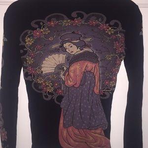 Lucky brand tattoo long sleeve shirt